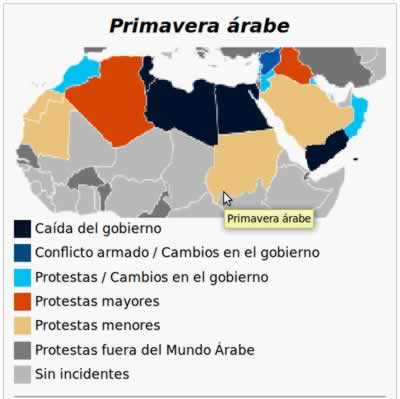 primavera arabe-mapa