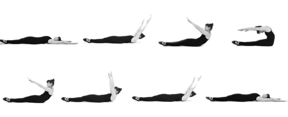 Los basicos de Pilates The roll up2