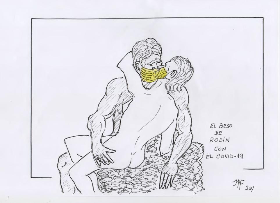 El Beso de Rodin con el Covid 19 del bolg del periodista Antonio Garrido