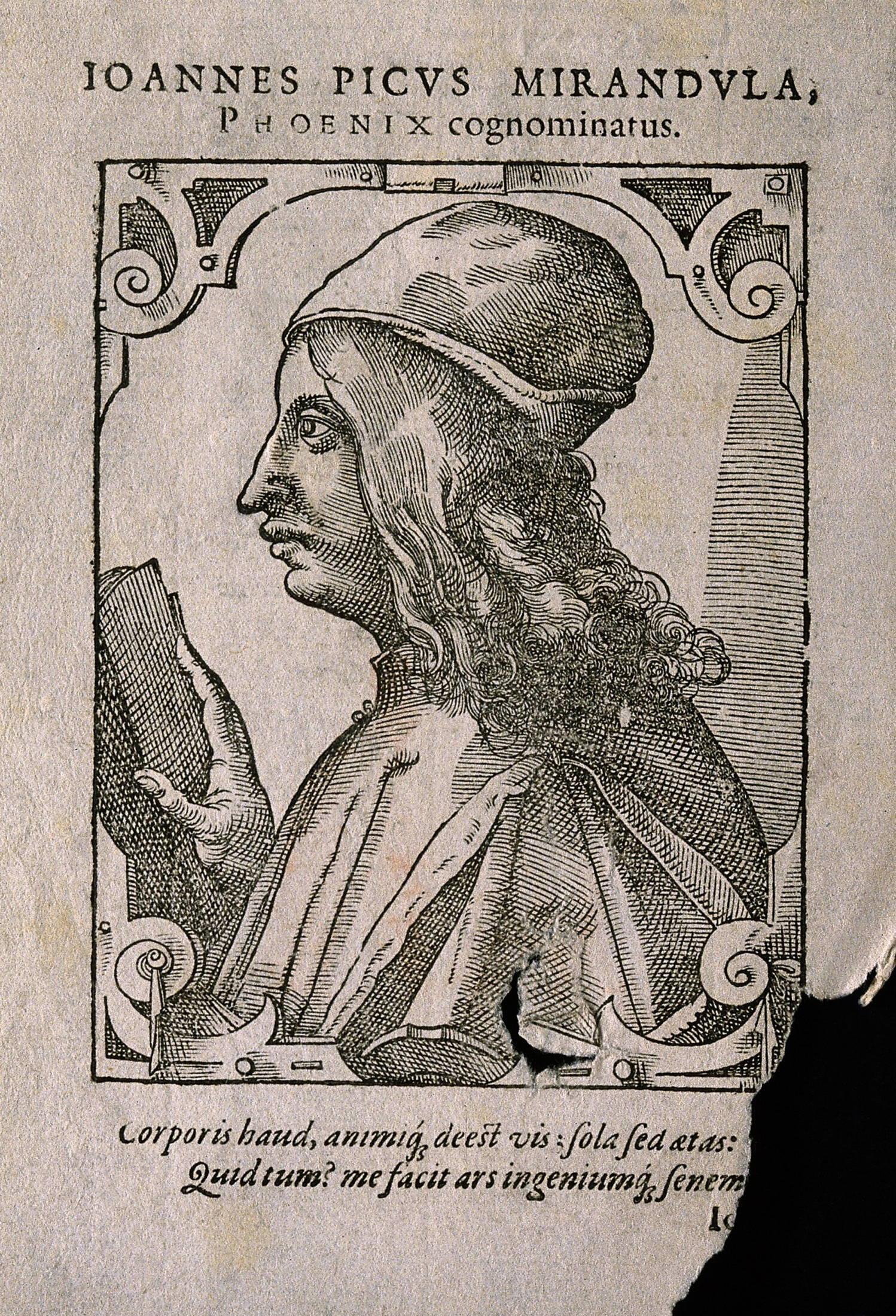 Giovanni Pico della Mirandola (Johannes Picus Mirandulanus). Wellcome V0004659EL