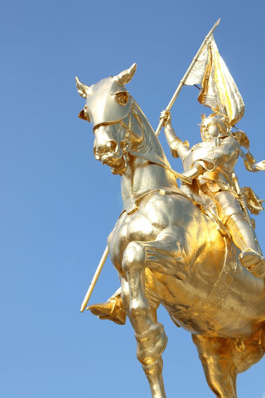 joan of arc gold statue arc