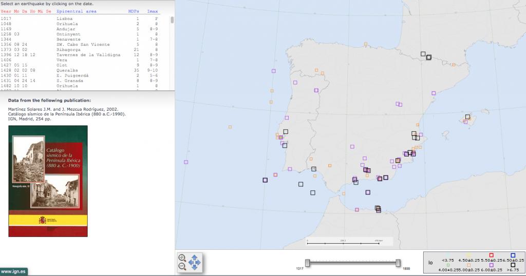 Catálogo sísmico peninsular
