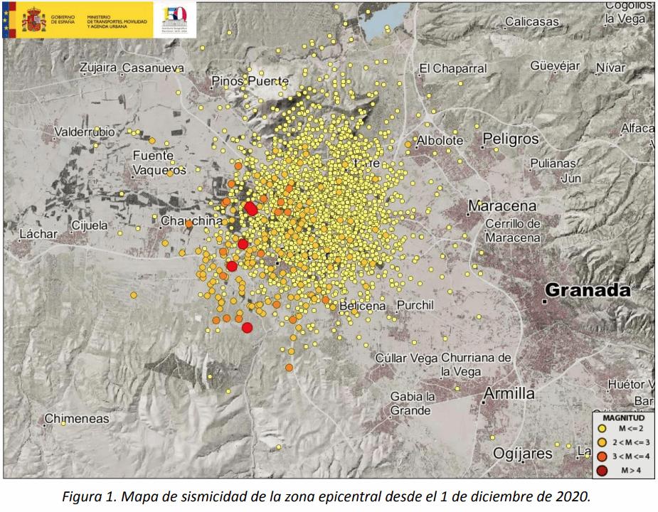 Enjambre sísmico Granada